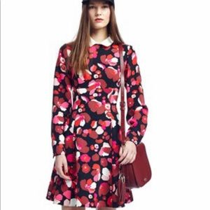 Kate Spade Peter Pan Collar Floral Flare Dress
